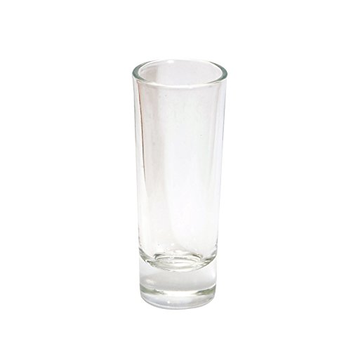 Thirsty Rhino Anja, Round 2 oz Tall Shooter Shot Glass with Heavy Base, Clear Glass -