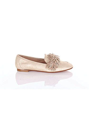 AQUAZZURA Loafers in Gold Suede Leather - Model Number: WDLFLAA0 Mes FD5 Gold 225cLghY3