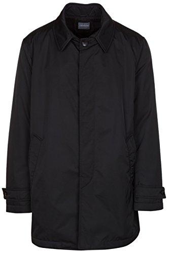 Armani Collezioni Men's Black Insulated Water Repellent Trench Coat Jacket, Black, EU 54 / US XL