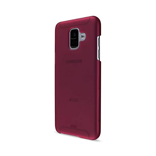 Artwizz Rubber Clip Cover for Samsung Galaxy A6 (2018) - Protective Case with Soft-Touch Coating, Smooth Grip and Slim Design - Designed in Berlin Germany - Berry