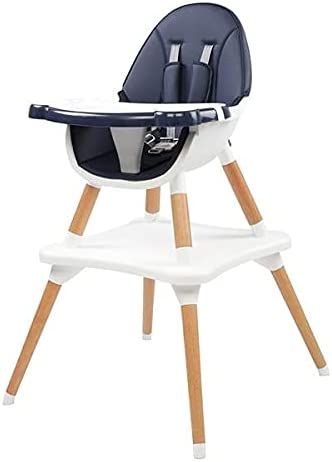 Qikafan ertongzhuoyi Children's High Dining Chair Detachable Two-in-One Table and Chair Navy Blue SLIGNU