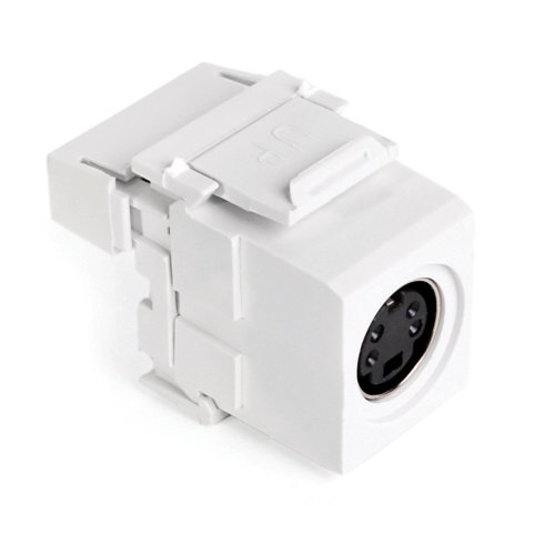 (Leviton 40734-SVW S-Video 110-Termination QuickPort Connector, White Housing )