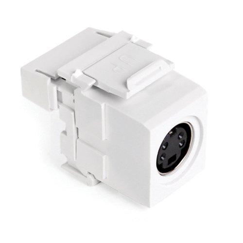 Leviton 40734-SVW S-Video 110-Termination QuickPort Connector, White Housing (S-video Bulkhead)