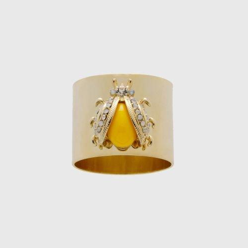 Ladybug Ring Yellow - Joanna Buchanan Yellow Lady Bug Napkin Rings, Set of 2
