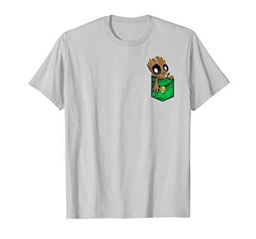 Marvel Groot Left Chest Pocket Graphic T-Shirt