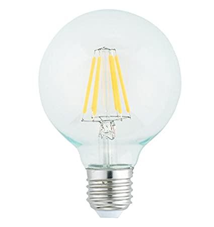 Goodlite G-83468 G25 LED Light Bulb, 7W=60-Watt Equivalent 850 Lumens Clear Warm White 3000k E26 Base Dimmable, - - Amazon.com