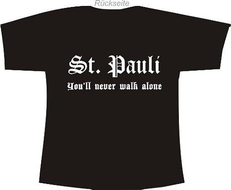 St. Pauli - You ll Never Walk Alone; POLO Camiseta de Negro ...