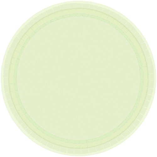 Amscan Party Ready Disposable Round Dessert Plates Tableware Childrens (120 Piece), Leaf Green by Amscan