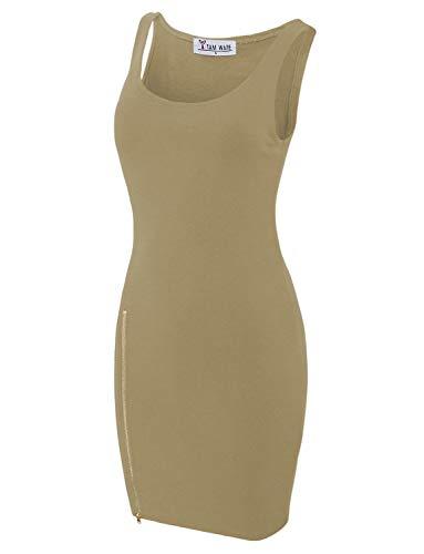 0218c8a0fd2 TAM WARE Women Classic Slim Fit Tank Bodycon Mini Tee Dress
