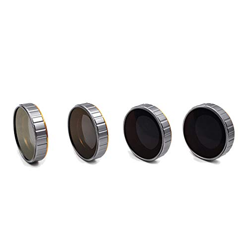 - Zhaowei 4PC ND8+ND16+ND32+ND64 Camera Lens Filters for DJI OSMO Action 4K Camera (Black)