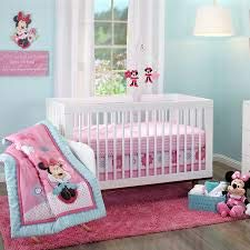 Disney Minnie Mouse Happy Day 4 Piece Crib Bedding Set With Keepsake Box