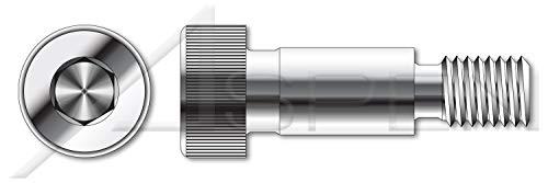 Hex Socket Drive 3 pcs 18-8 AISI 304 Stainless Steel 5//8-11 X 5 Shoulder Screws