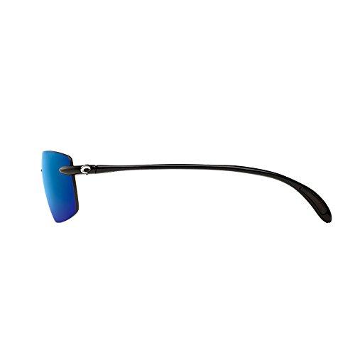 Costa del Mar BA 11 OBMP 59.6 mm Unisex-Adult Ballast Polarized Iridium Rimless Sunglasses, Black/Blue Mirror 580 Plastic Lens by Costa Del Mar (Image #2)
