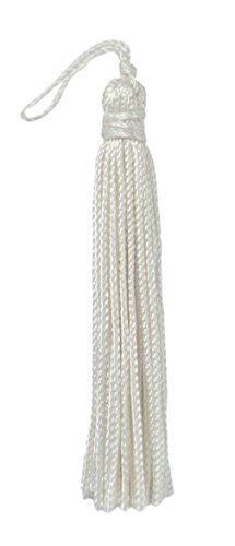 Set of 10 WHITE Chainette Tassel, 3 Inch Long with 1 Inch Loop, Basic Trim Collection Style# RT03 Color A1