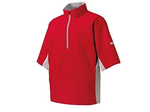 FootJoy Hydrolite Short Sleeve Rain Golf Shirt 2016 Red/Gray/Black Large