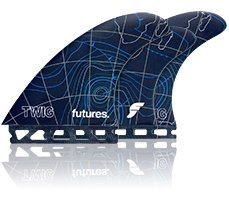Futures Twiggy Fiberglass 5 Fin Set - Blue by Futures