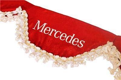 AutoCommerse sat/én, borlas blancas, panel de visera para Actros Atego Axor Arocs Series trucks HGV Lorry Red Cortina para parabrisas delantero