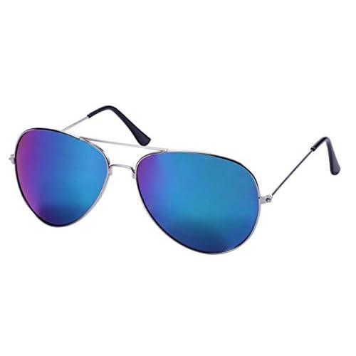 98ee2bfaff De bajo costo WODISON Vintage Aviator Gafas de sol Set Lente Espejo  Reflectante
