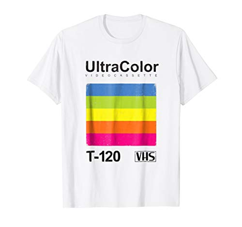Vintage VHS T-120 UltraColor T-shirt for Adults, 4 Colors