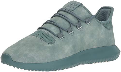 adidas Originals Men's Tubular Shadow Running Shoe, raw Green/Chalk White, 9 M US