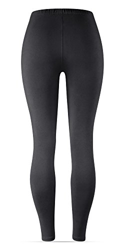 Satina High Waisted Leggings Women | New Full Length w/Stretch Waistband | Ultra Soft Opaque Non See Through (OneSize, Black) by Sejora (Image #4)'