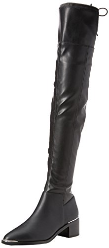 Black Karma Women's Black Office Leather Boots 8CqSxtwBBR