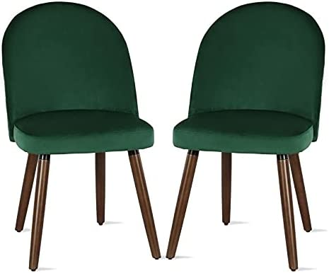 Pemberly Row Upholstered Side Dining Chair in Green (Set of 2)