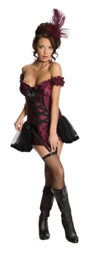 (Secret Wishes Womens Playboy Cabaret Costume, Purple,)
