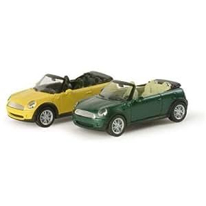 Herpa 034197 - Maqueta de Mini Cooper Cabrio (metalizado)