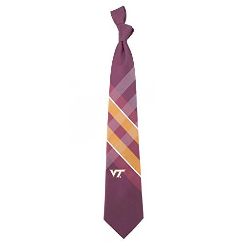 Virginia Tech Hokies Grid Neck Tie with NCAA College Sports Team Logo