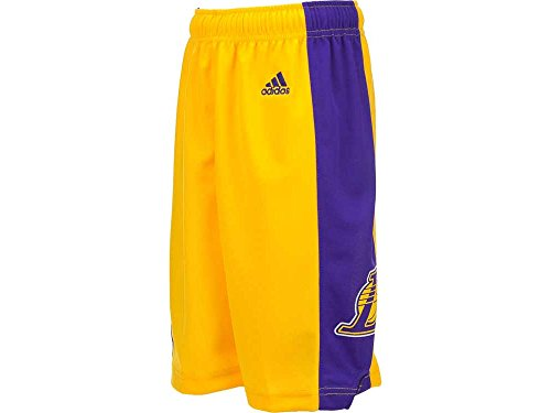 Adidas Youth Basketball Short - NBA Los Angeles Lakers Youth Boys 8-20 Replica Home Shorts, Large (14/16), Gold