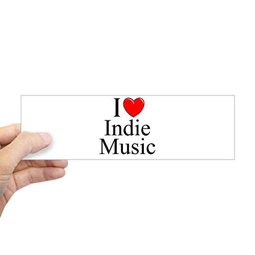 - CafePress I Love (Heart) Indie Music Bumper Sticker 10