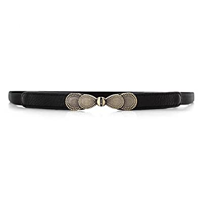 VOCHIC Womens Skinny Belt Bow Elastic Thin Waist Belt Stretchy Cincher for Dress