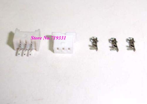 Davitu JST 1.25mm 3-Pin Female Connector Housing, Male Header & crimp terminal 100 SETS