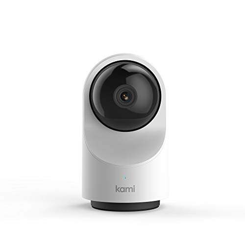 Kami Home Security Camera System 1080p HD Indoor Smart Surveillance Cam, Motion-Activated with Wireless Wi-Fi, 2-Way Audio, 1 Year Free Cloud Storage