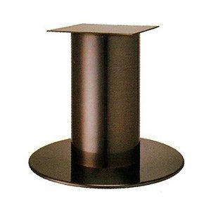 e-kanamono テーブル脚 ソフトS7570 ベース570φ パイプ139φ 受座240x240 ジービーメッキ AJ付 高さ700mmまで B012CCBDZ4