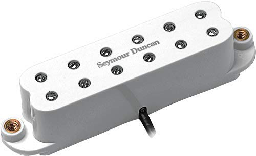 Seymour Duncan SL59-1 Little '59 Humbucker Strat Pickup Single-coil-sized Humbucking P.A.F. Bridge Pickup for Strat Style Guitars with 2 Senor Patch Cable | Guitar Picks and Zorro Sounds Guitar Cloth