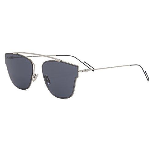 060fd8081706f Dior Homme Lunettes de soleil Dior 0204S Pour Homme Palladium   Blue 010 72