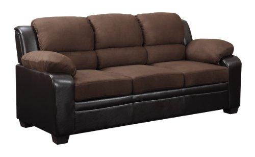 Amazon.com: Global Muebles Sofá tapizado, color café ...