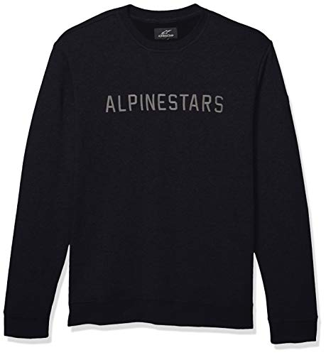(Alpinestars Men's Motorsports Heritage Fleece Pullover Hoodie Modern fit, Distance Black, L)