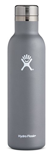 Hydro Flask 25 oz Double Wall Vacuum Insulated Stainless Steel Leak Proof Wine Bottle with BPA Free Cap, Graphite