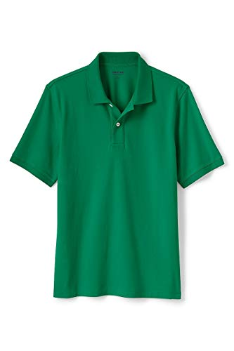 - Lands' End Men's Big & Tall and Tall Short Sleeve Comfort First Solid Mesh Polo, 4XLT, Bright Clover