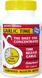 ARIZONA NATURAL GARLIC TIME,T/R,1800MG, 90 TAB