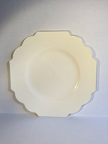 "Collection Baroque Premium Heavyweight Plastic 10.75"" Dinner Plates Set of 10"