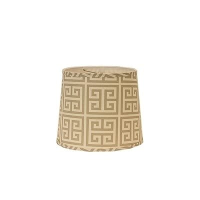 - AHS Lighting SD1512-16WD Greek Key Drum Lamp Shade with Washer, 16