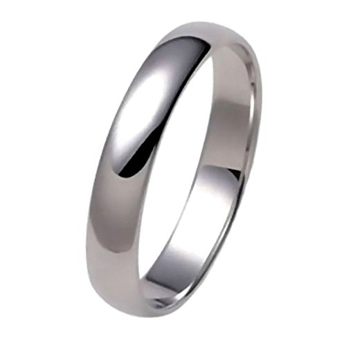 Trustmark Silver 4mm Classic Domed Unisex His n Hers Wedding Band Ring, Birget 3124B sz 13.0