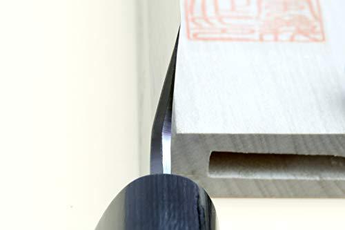 Yoshihiro Shiroko High Carbon Steel Kasumi Yanagi Rosewood Handle Sushi Sashimi Chef Knife (10.5'' (270mm)) by Yoshihiro (Image #4)