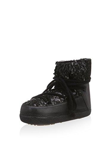 """Boots femme low sequin """"punk""""-iKKII de couleur :  noir"""