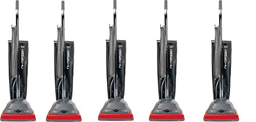 """Sanitaire EUKSC679J Commercial Shake Out Bag Upright Vacuum Cleaner with 5 Amp Motor, 12"""" Cleaning Path,Red (Pack of 5)"""