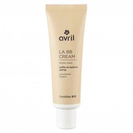 Avril - BB Cream - Claire - SPF 10 - Complexion Homogenizer, Smooth Texture, Long-Lasting - with Moisturizer Aloe Vera Bio - 30 ml (L Oreal 5 In 1 Bb Cream)